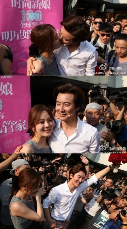 中国の俳優ガオ・ヅーチーが韓国俳優チェ·リムに公開プロポーズ