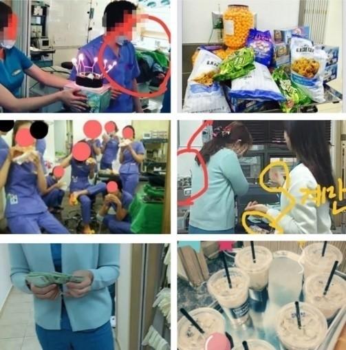 韓国ソウルのj整形外科誕生日パーティー