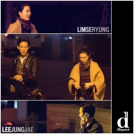 映画俳優イ・ジョンジェとイム・セリョンさんが深夜のデート中